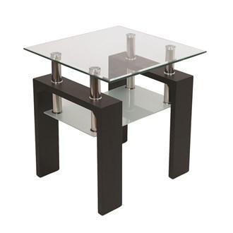 Black Veneer Side Table 50x50cm