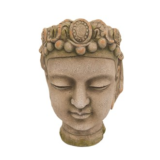 Buddha Planter Green 35x38cm