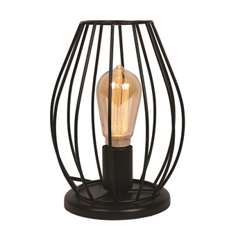 Black Cage Table Lamp 26.5cm