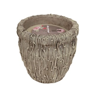 Ceramic Vase Wax Filled Candle  14cm