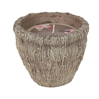 Ceramic Vase Wax Filled Candle  20cm