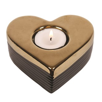 Ceramic Heart Tea Light Holder 10cm