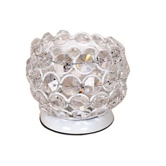 Crystal White Tea Light Holder 7cm