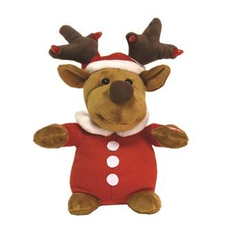 Dancing Musical Reindeer With Light 30cm