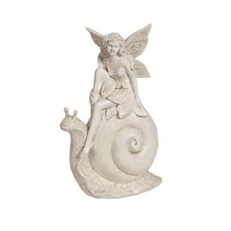 Decorative Fairy With Snail 23.5cm