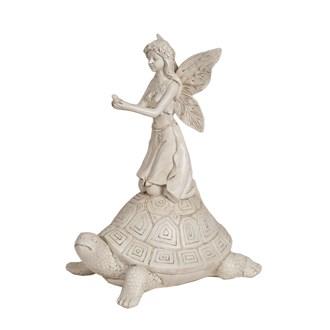 Decorative Fairy With Tortoise 24.5cm