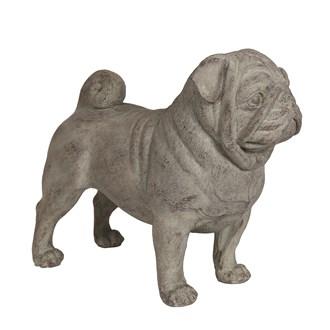 Natural Stone Pug 43cm