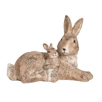 Rabbit and Baby Figurine 22cm