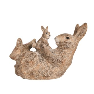 Playing Rabbit Figurine 23cm