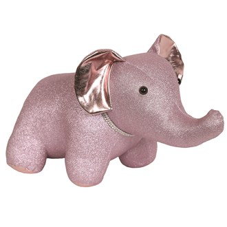 Pink Elephant Doorstop 45x23cm