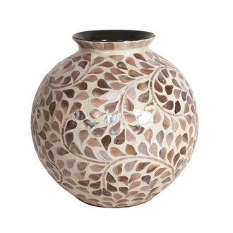 Floral Capiz Vase 25cm