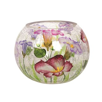Floral Globe Tea-light Holder 10cm