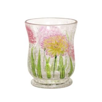 Floral Hurricane Tea-light Holder 11cm