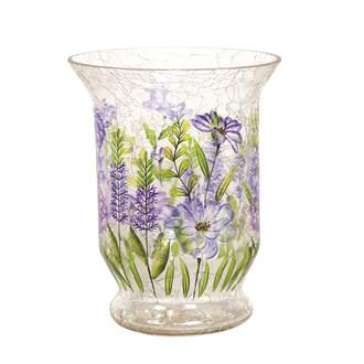 Floral Hurricane Tea-light Holder 15cm
