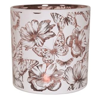 Floral and Butterflies Tealight Holder 15cm