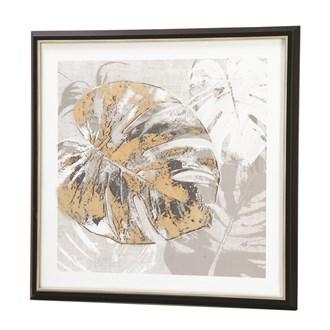 Framed Print Gold Leaf 60x60cm