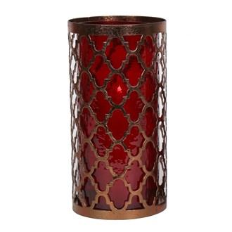 Fret Work Pillar Candle Holder 26cm