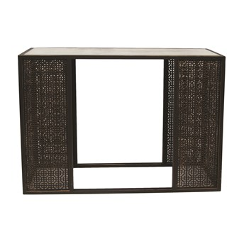 Fretwork Console Table 103x80cm
