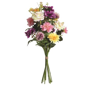 Geranium and Rose Bouquet 60cm