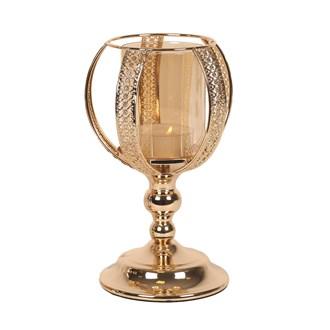 Gold Chalice Pillar Holder 23cm