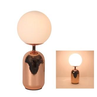 Globe Table Lamp Rose Gold36cm