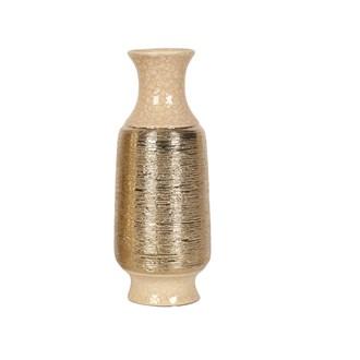 Gold Etched Vase 30.5cm