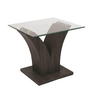 Grey Veneer Side Table 55x55cm