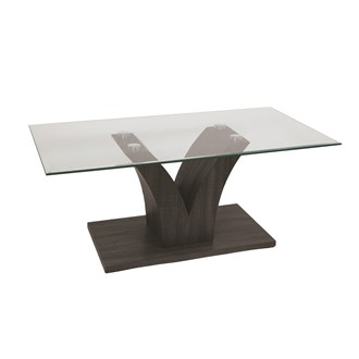 Grey Veneer Coffee Table 110x60cm