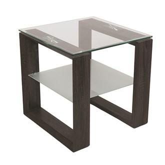 Grey Veneer Table/Shelf 50x50cm