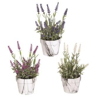 Lavender Decorative Pot 22.5cm 3 Assorted