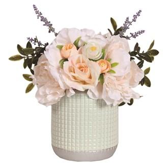 Floral Arrangement Peach 30cm