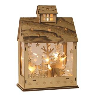LED Christmas House Natural 20x29cm