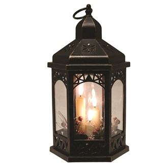 LED Deco Copper Lantern 30cm