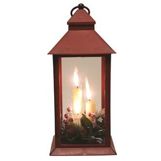 LED Deco Red Lantern 31cm