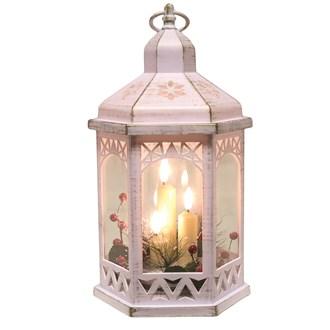 LED Deco White Lantern 30cm
