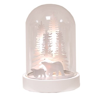 LED Dome Polar Bear 18cm