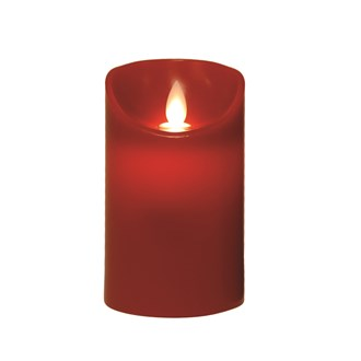 LED Pillar Candle 7x12.5cm Red