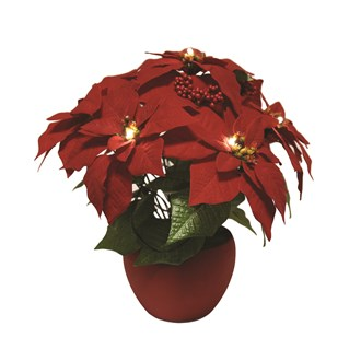 LED Poinsettia Arrangement 36cm