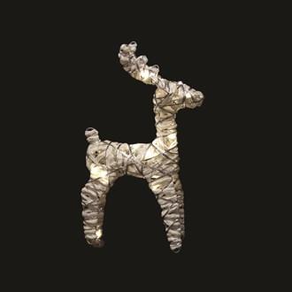 LED Reindeer (20L) White 32cm