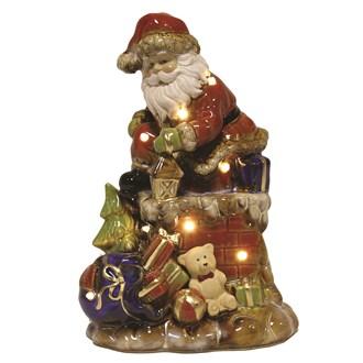 LED Santa In Chimney 28.5cm