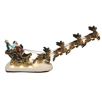 LED Santa On Sleigh 31x16cm