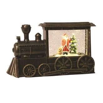 LED Santa Train Water Spinner