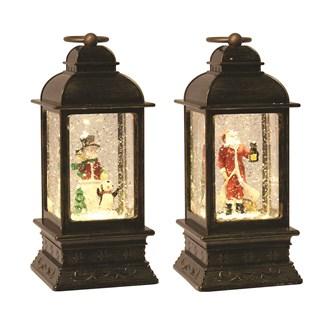 LED Santa/Snowman Spinner 2 Assorted