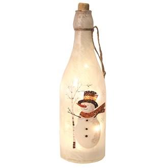 LED Snowman Bottle 29.5cm