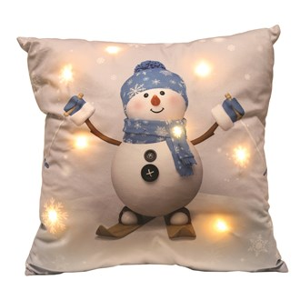 LED Snowman Cushion 45cm