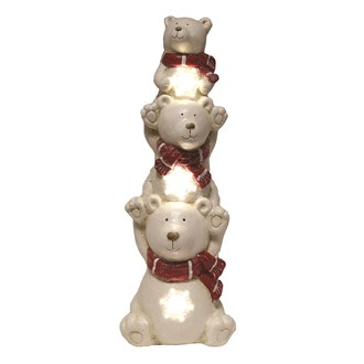 LED Stack Christmas Polar Bears 59cm
