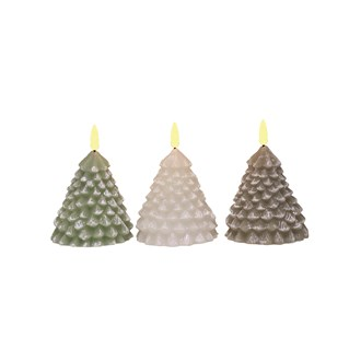 LED Tree Candle 12cm Assorted