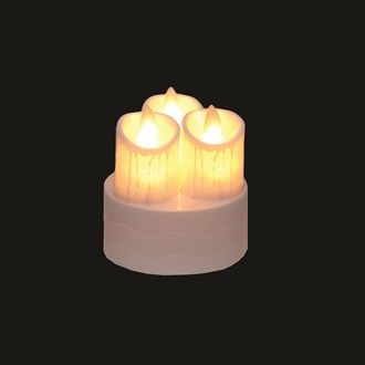 LED Triple Candle Moving Flame