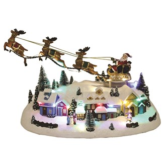 LED Village Flying Reindeer