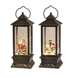 LED Water Globe Lantern 30cm Assorted